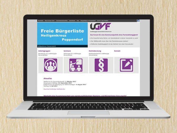 RedKlaxx Webdesign | Unabhängiges GemeindeVertreterForum | www.ugvf.at
