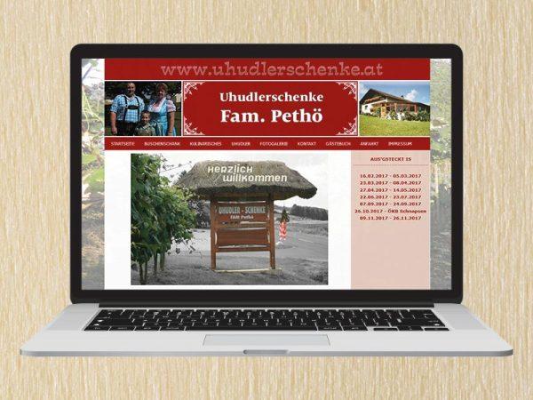 RedKlaxx Webdesign | Uhudlerschenke Pethö | www.uhudlerschenke.at