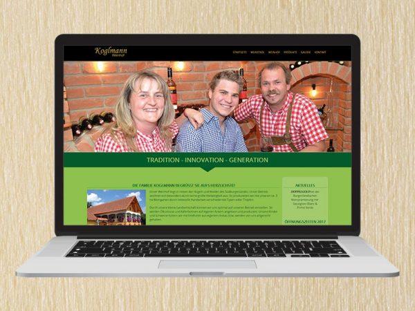 RedKlaxx Webdesign | Weinhof Koglmann | www.weinstadl-koglmann.at