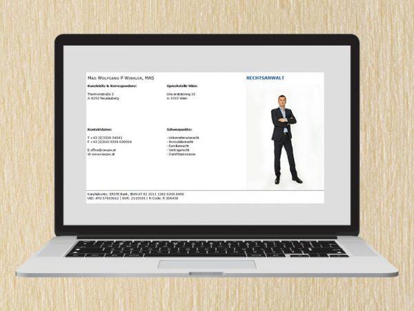RedKlaxx Webdesign | Rechtsanwalt Winkler | www.rawpw.at