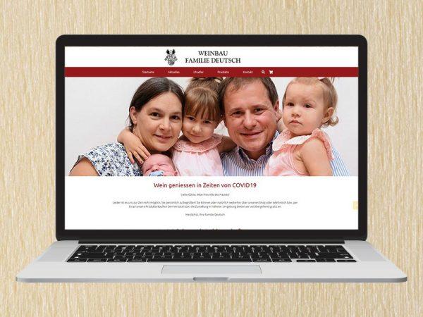 RedKlaxx Webdesign | Weinbau Deutsch | www.weinbau-deutsch.at